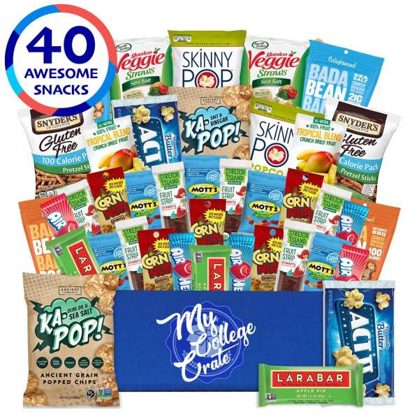 My College Crate Dairy Free Gluten Free Care crate, with 40 snacks
