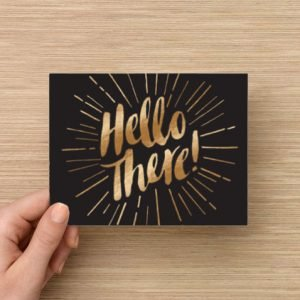 Hello there greeting card